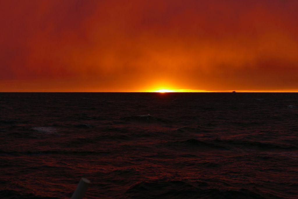 Sonnenuntergang auf Fähre 4