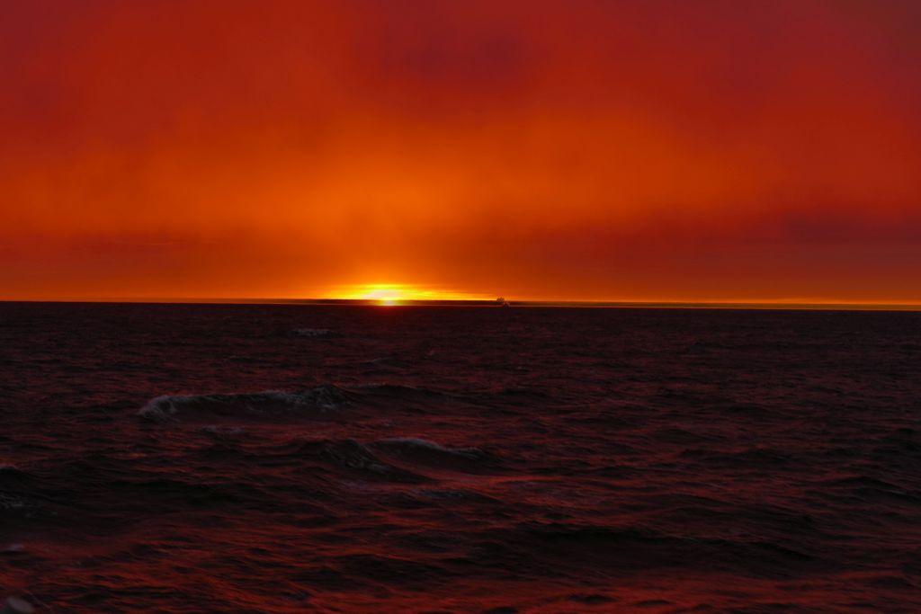 Sonnenuntergang auf Fähre 6