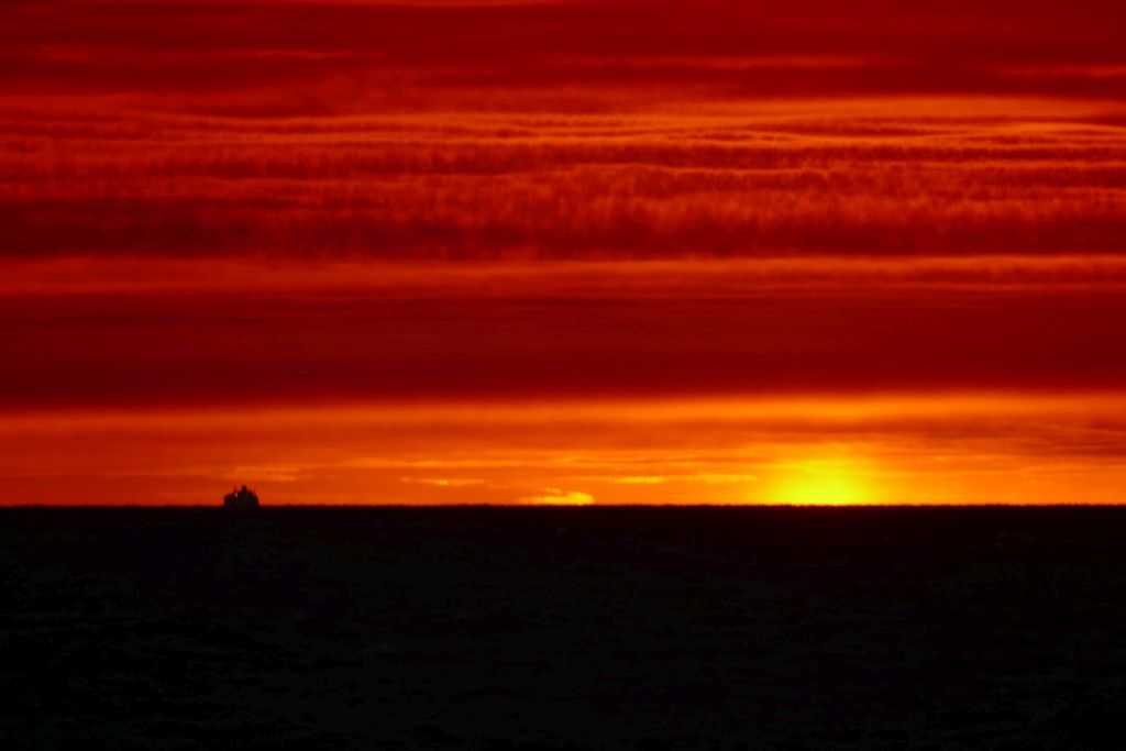 Sonnenuntergang auf Fähre 9