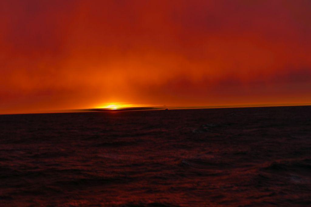 Sonnenuntergang auf Fähre 5