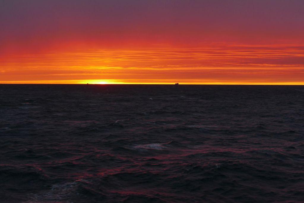 Sonnenuntergang auf Fähre 7
