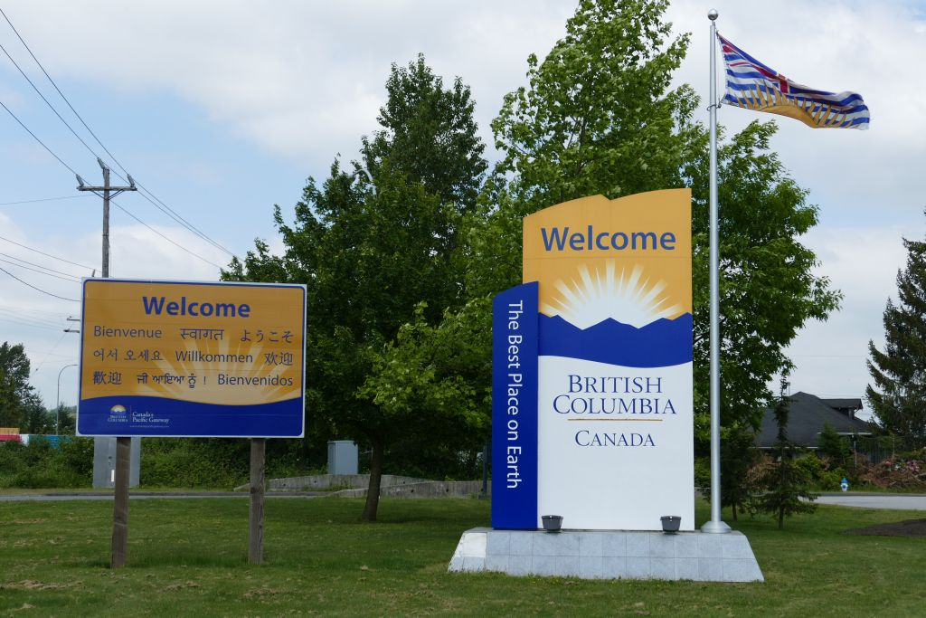 Begrüssung in British Columbia (BC)
