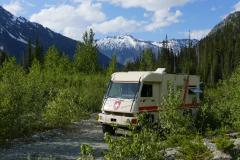 Wilder Übernachtungsplatz in den Rocky Mountains