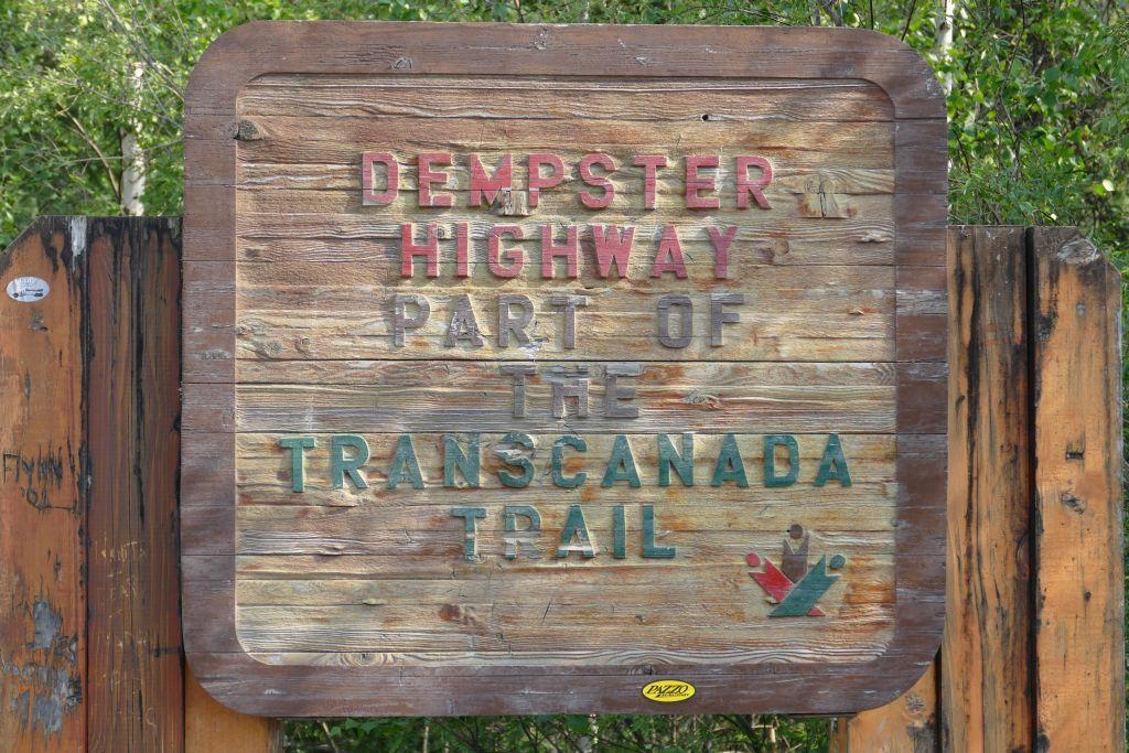 Beginn Dempster Hwy