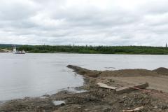 Peel River beschädigte Fährrampe