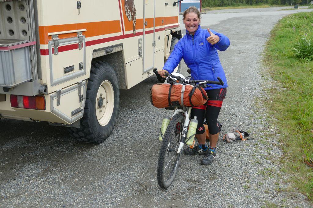 Angela nach dem Transport im Bär