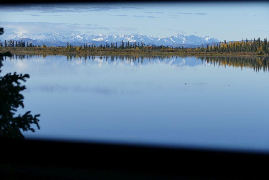 Am Yarger Lake aus dem Schlafzimmerfenster