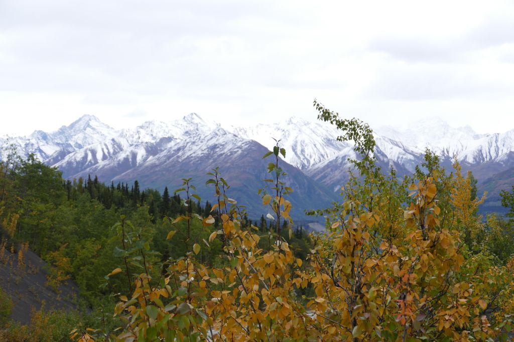 Berge nähe Anchorage überzuckert