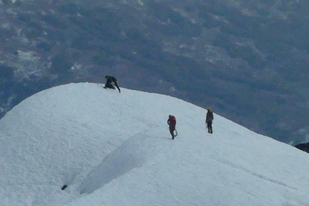 Bergsteiger auf dem Gletscher