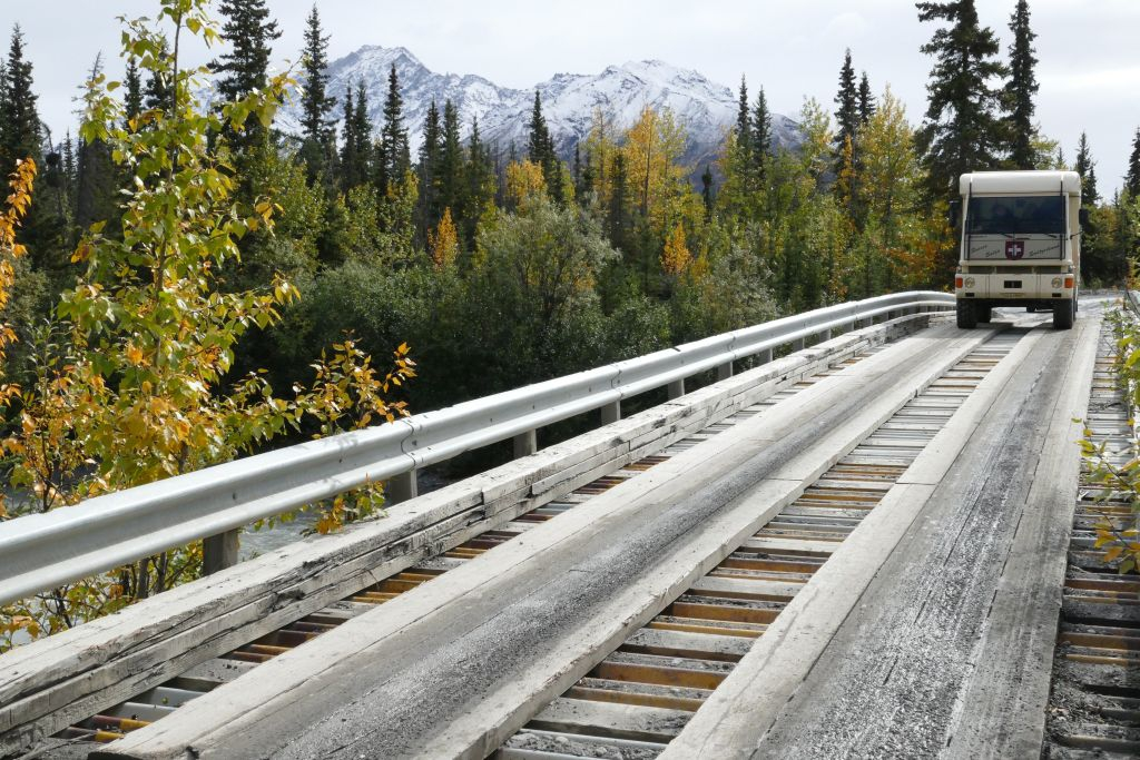 Herbstwald mit Schneeberge 2
