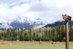 Mt Robson in Wolken 2