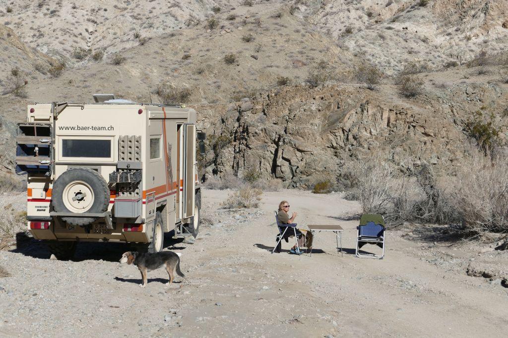 Am Campingtisch in der Berdoo Schlucht