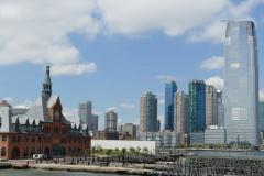 New Jersey alter Bahnhof und Skyline