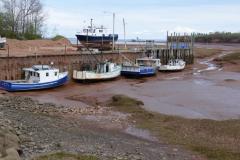 Fischerboote 1 bei Ebbe
