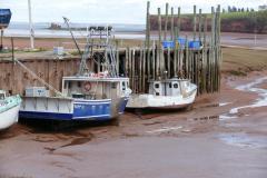 Fischerboote 2 bei Ebbe