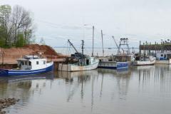 Fischerboote 2 bei Flut