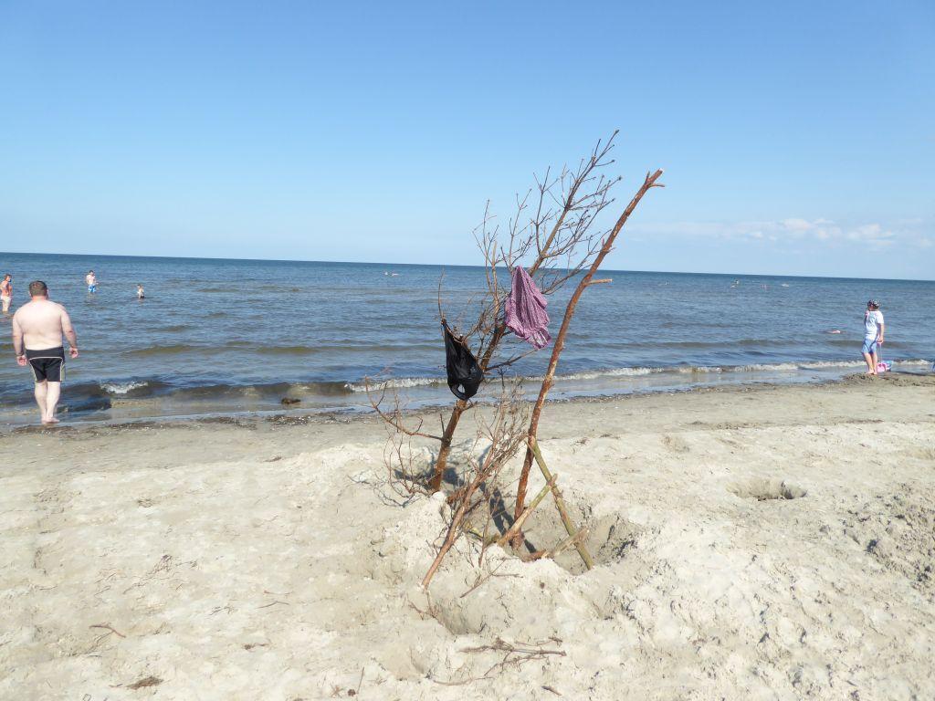 Erstes Ostseebad wo wir anschliessend die Badekleider zum trocknen aufhängen