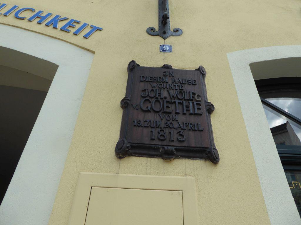 Goethe lebte auch ein Tag hier