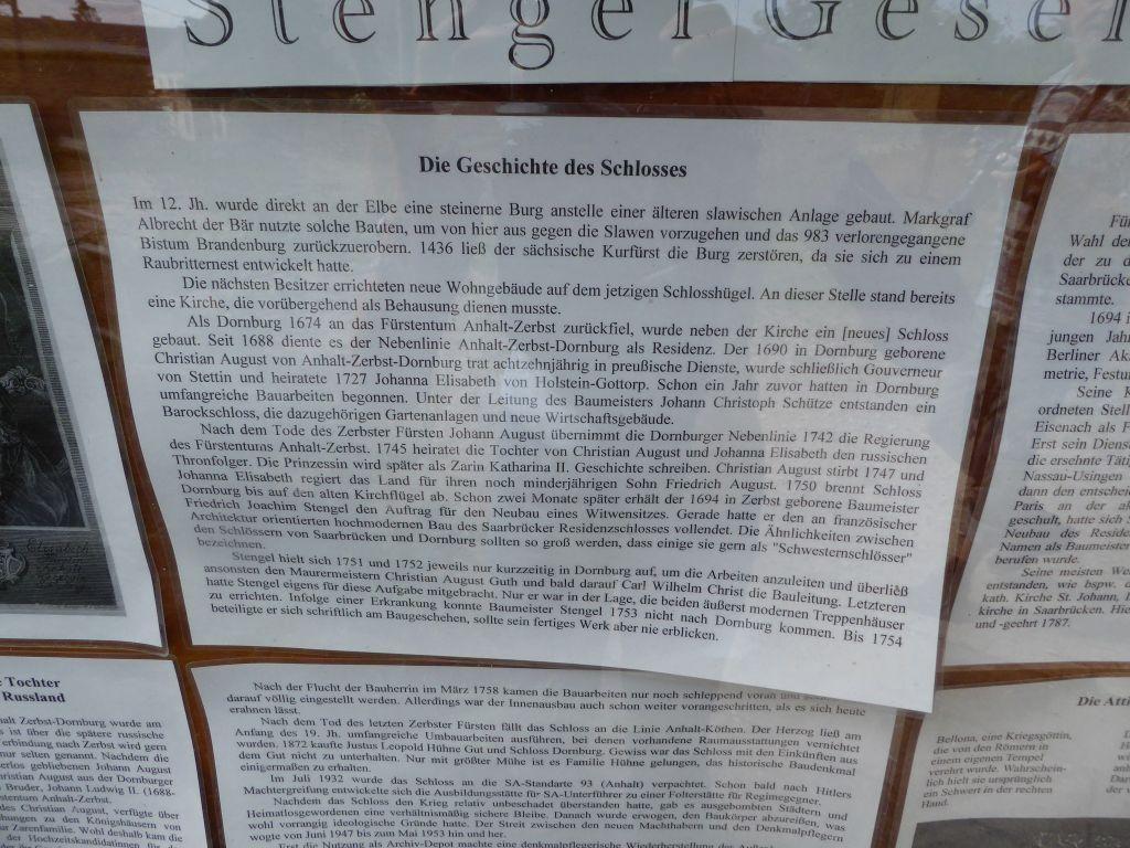 Schloss Dornburg Info