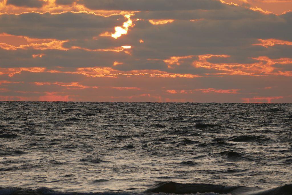 Sonnenuntergang Norden Lettland