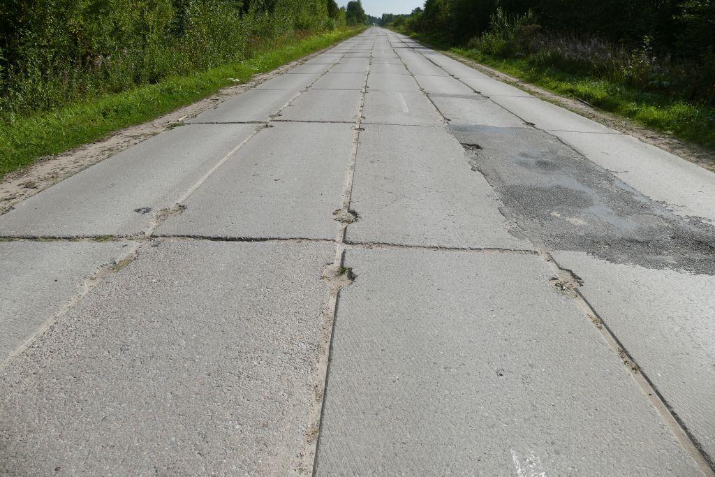 sowjetische Betonstrasse hier sind aber 10km/Std zu schnell