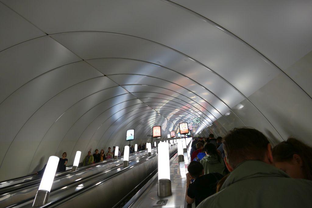 eine der tiefsten Metro der Welt