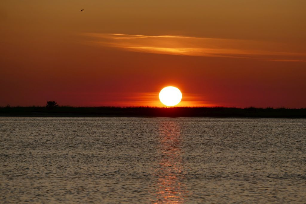 Sonnenuntergang ab unserm Übernachtungsplatz